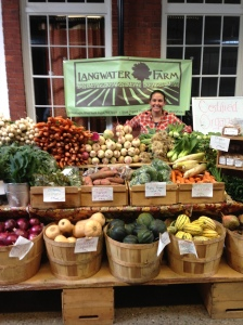 Kate at the Wintertime Market in Pawtucket--so much seasonal bounty!
