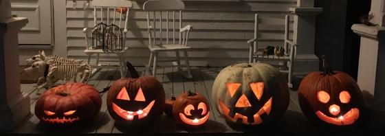 front porch jack o lantern lineup