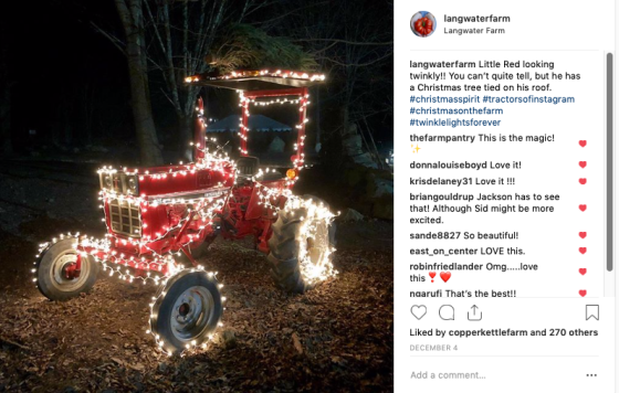 insta twinkly red tractor