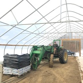 sam tractor potting soil greenhouse spring