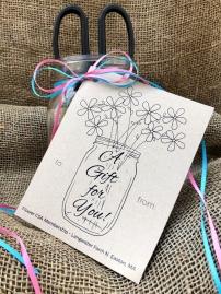 flower csa gift pack burlap