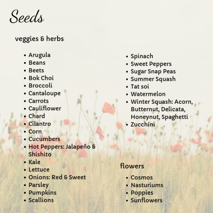 seed inventory may 2019